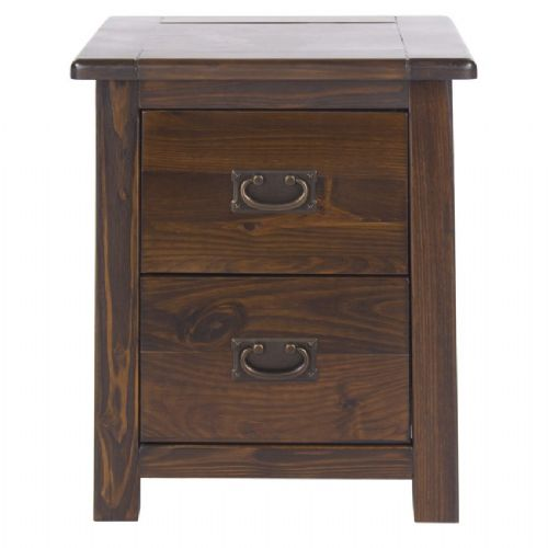 Boston 2 Drawer Bedside